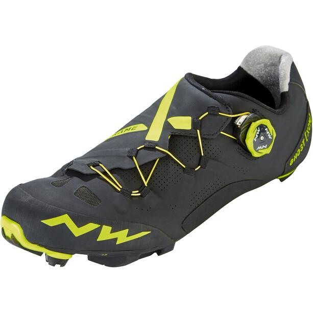 Northwave Ghost XCM Schuhe Herren black/yellow fluo