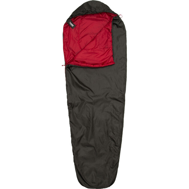CAMPZ Trekker Light 300 Schlafsack anthrazit/rot