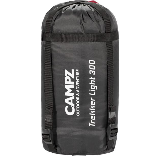 CAMPZ Trekker Light 300 Sac de couchage, anthracite/red