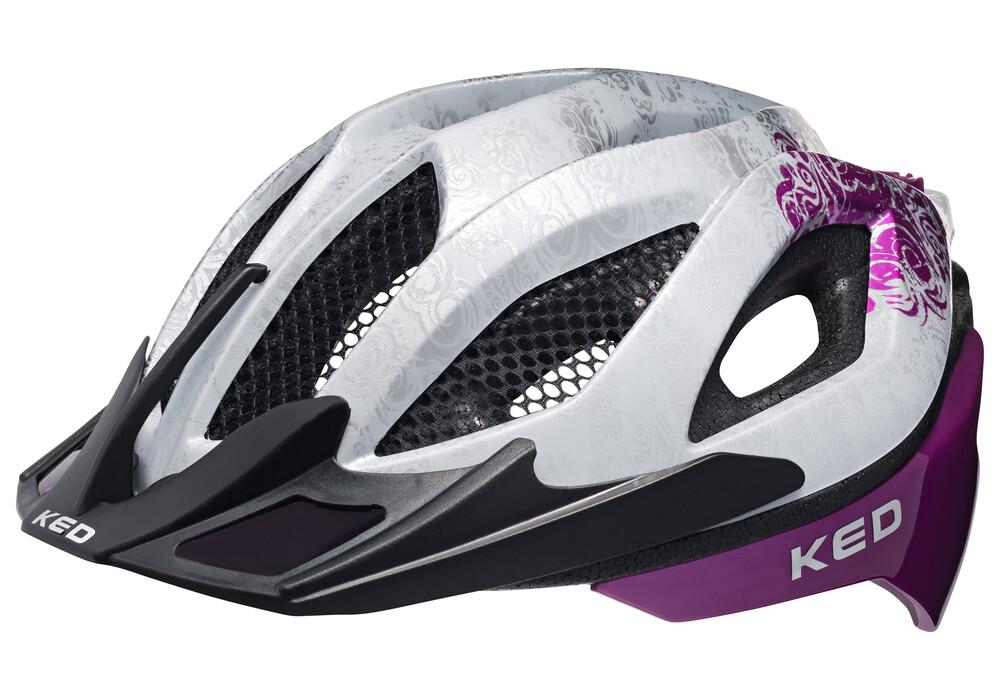 ked spiri two casque de v lo femme violet blanc boutique de v los en ligne. Black Bedroom Furniture Sets. Home Design Ideas