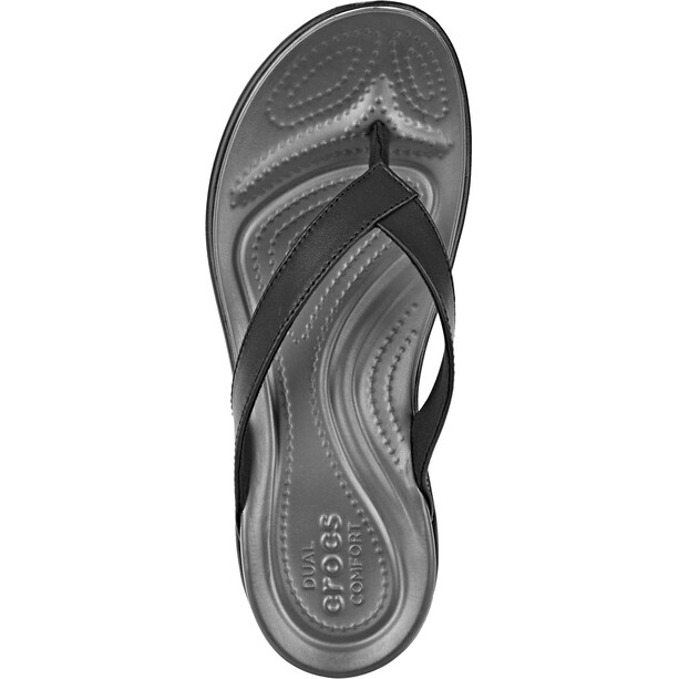 Crocs Capri V Flips Damen black/graphite