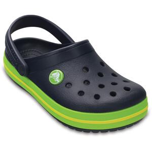 Crocs Crocband Clogs Kinder navy/volt green navy/volt green