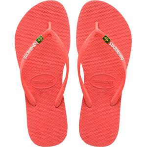 havaianas Slim Brasil Logo Flips Damen coralnew coralnew