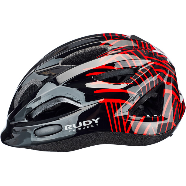 Rudy Project Rocky Helm Kinder black-red shiny