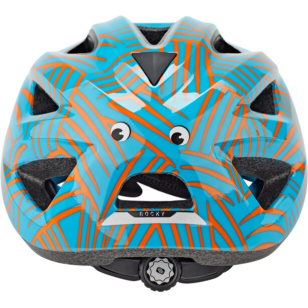Rudy Project Rocky Casque Enfant, blue-orange shiny