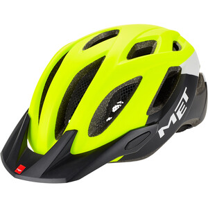 MET Crossover Helmet safety yellow/white/black safety yellow/white/black