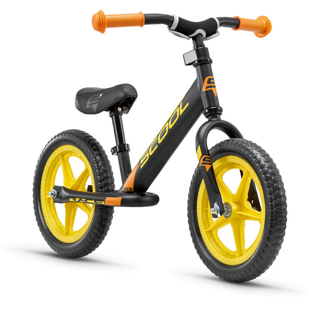 s'cool pedeX race Enfant, black/yellow matt