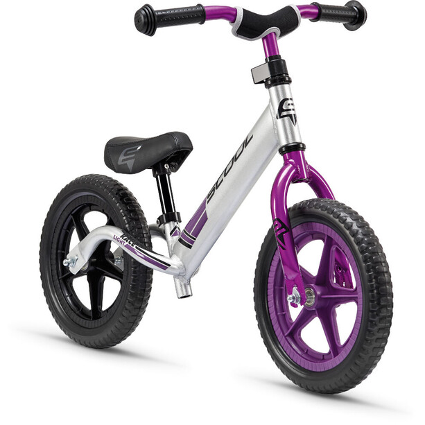 s'cool pedeX race light Enfant, anodised silver/purple