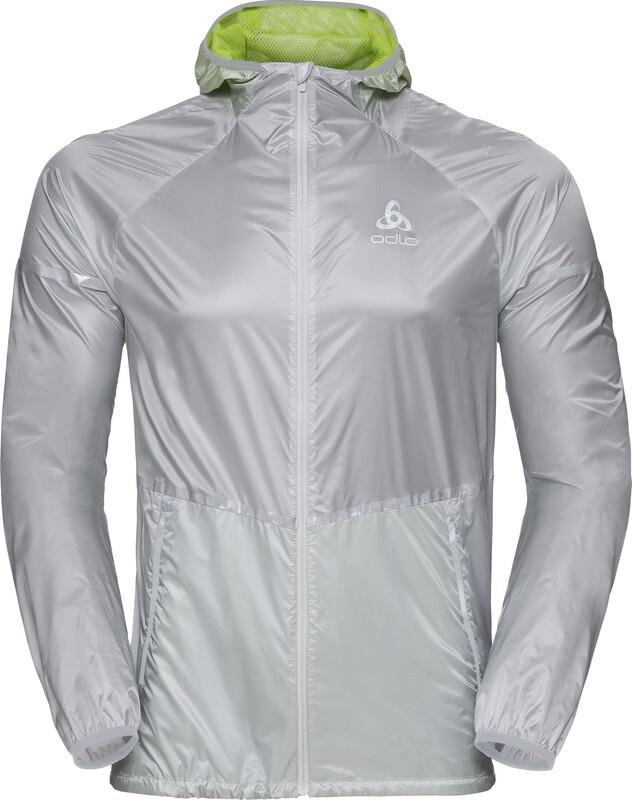 Zeroweight Jacket Men silver-acid lime L 2018 Laufjacken & veste