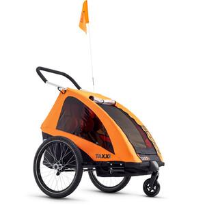 s'cool taXXi Pro Fahrradanhänger for Two orange orange