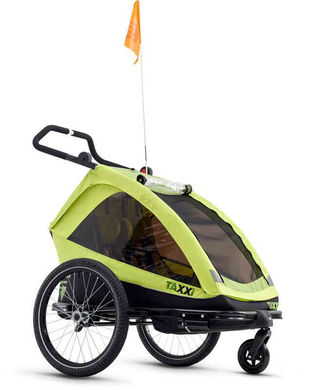s'cool taXXi Elite Sykkelvogn Barn For Two Grønn  2018 Barnevogner