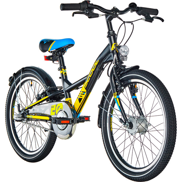 s'cool XXlite 20 3-S steel Kinder black/yellow matt