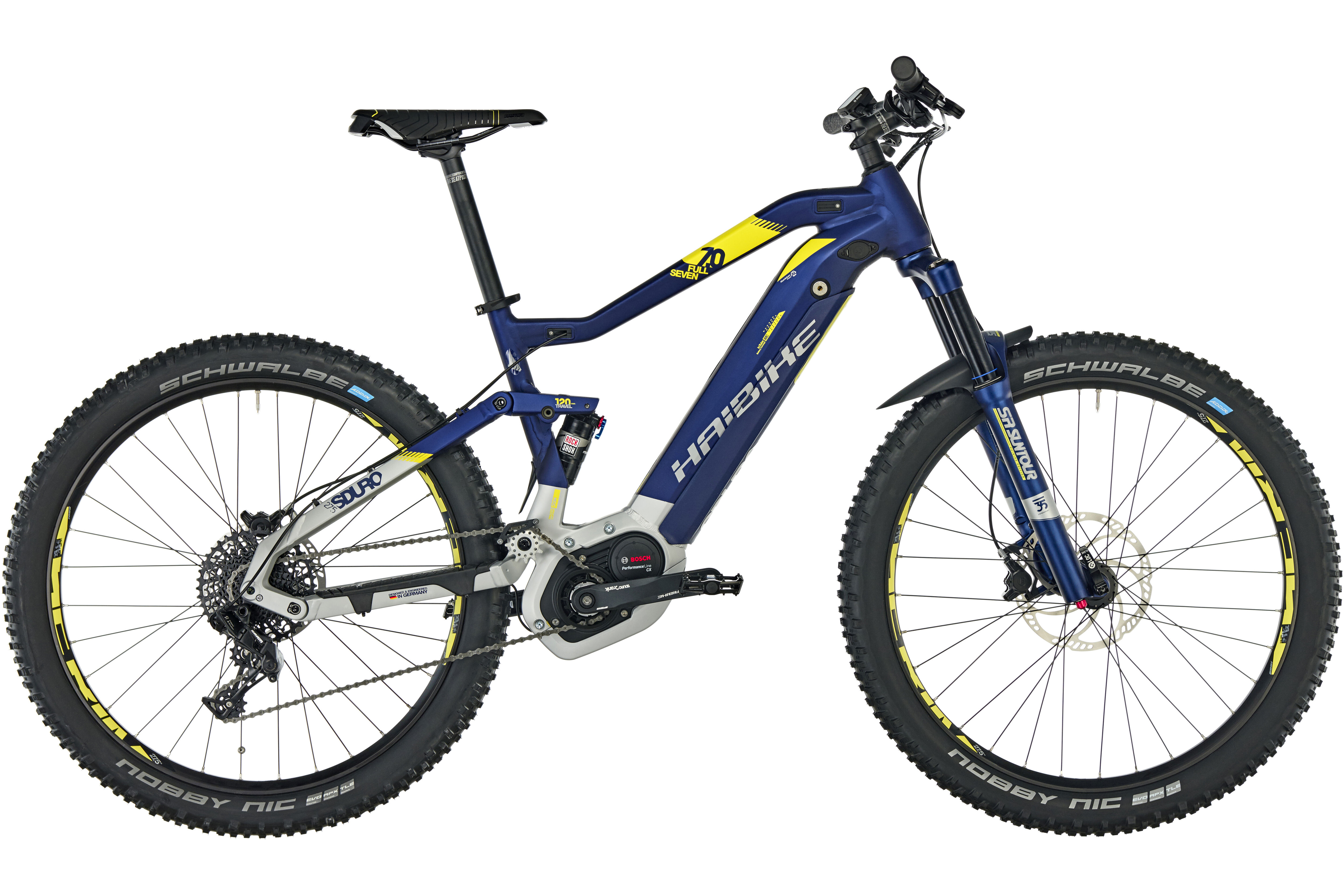 haibike sduro fullseven 7 0 e mtb fully yellow blue at. Black Bedroom Furniture Sets. Home Design Ideas