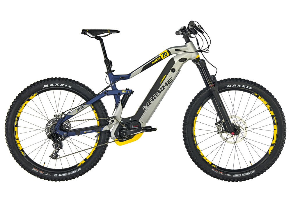 haibike xduro allmtn 7 0 e mtb fully blue silver at. Black Bedroom Furniture Sets. Home Design Ideas