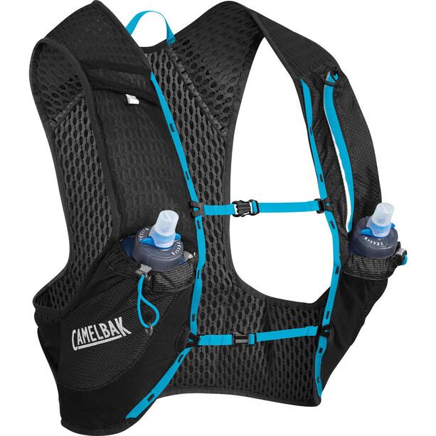 CamelBak Nano 17 Trinkrucksack Weste with Quick Stow Flask black/atomic blue