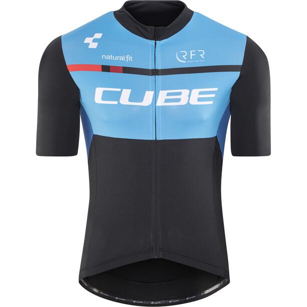 Cube Teamline Trikot Kurzarm Herren black'n'blue'n'white