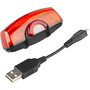 CatEye TL-LD710GK Rapid X2G Kinetic LED Rücklicht mit Bremslichtfunktion schwarz/rot