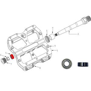 Reverse Bearing til Escape-pedal 2-delt