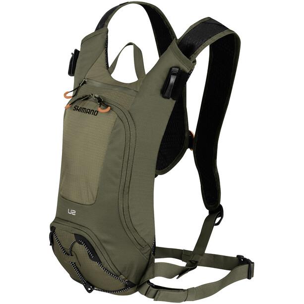 Shimano Unzen II Trail Backpack 2L bottle olive green