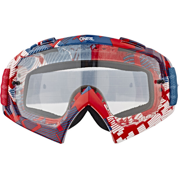 O'Neal B-10 Goggles pixel red/blue-clear