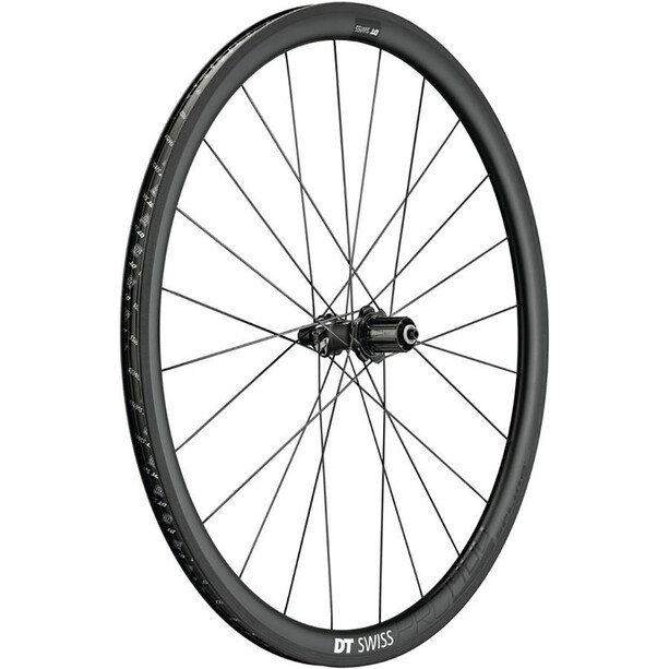 "DT Swiss PRC 1400 Spline 35 Rear Wheel 28"" Carbon 130/5mm QR, Shimano black"