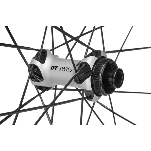 DT Swiss PR 1600 Spline DB 23 Vorderrad Alu Center Lock 100/12mm TA schwarz