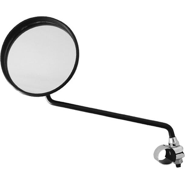 Busch + Müller elcykel spejl rund med styrklemme, sort