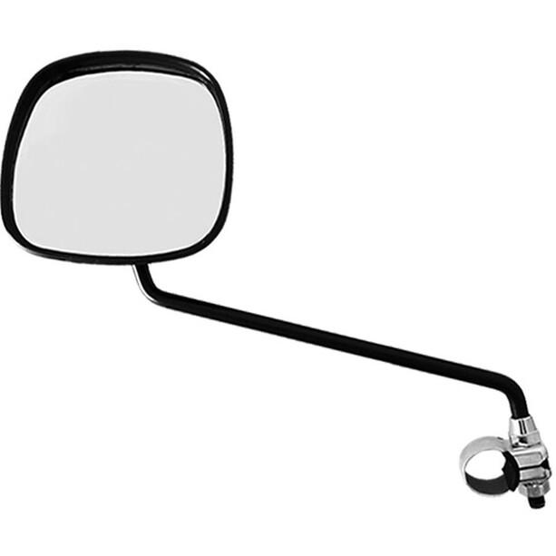 Busch + Müller elcykel spejl firkantet med styrklemme, sort