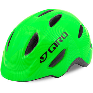 Giro Scamp Helm Kinder green/lime lines green/lime lines