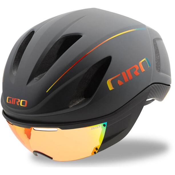 Giro Vanquish MIPS Helm matte grey firechrome