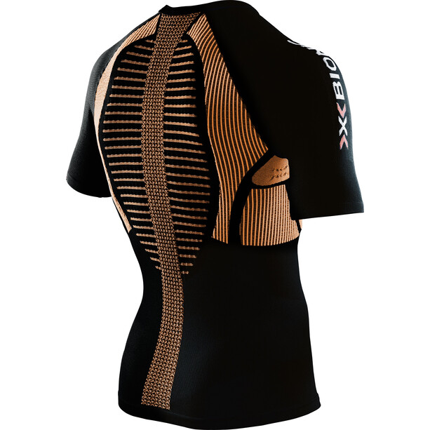 X-Bionic The Trick Running Shirt SS Herr black/orange shiny