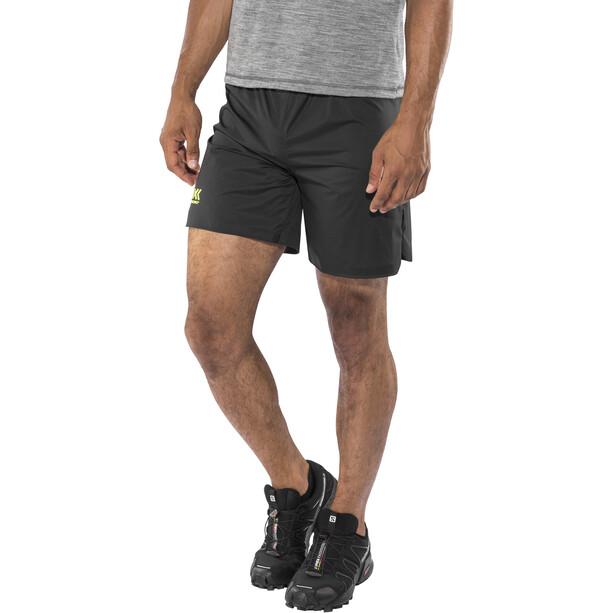 X-Bionic Aero Running Pants Short Herr black/neon yellow