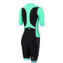 Zone3 Aquaflo+ Kurzarm Trisuit Damen black/grey/mint
