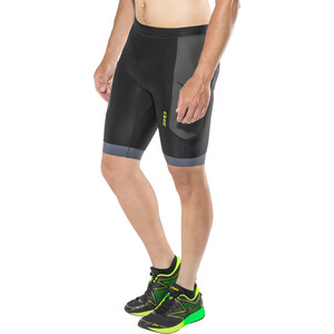 Zone3 Aquaflo+ Tri Shorts Herren black/grey/neon green black/grey/neon green