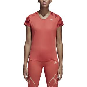 adidas AdiZero T-Shirt Damen trasca/cburgu trasca/cburgu