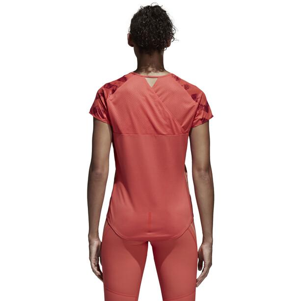 adidas AdiZero T-Shirt Damen trasca/cburgu