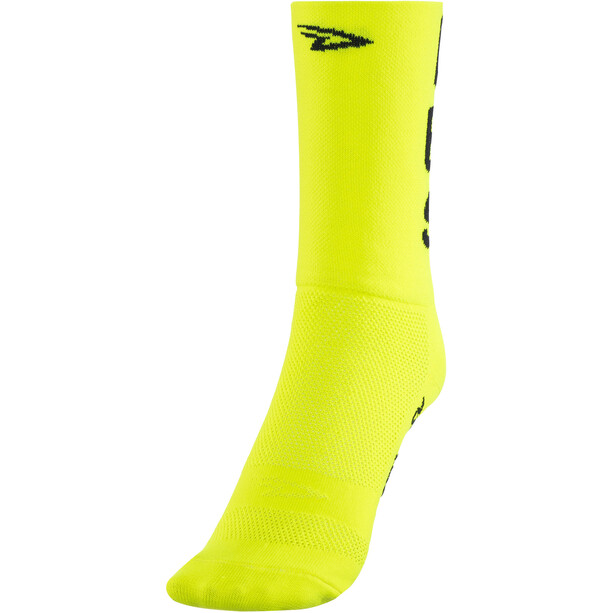 "DeFeet Aireator 5"" Double Cuff Socken do epic shit (neon gelb)"
