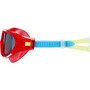speedo Biofuse Rift Goggles Kinder lava red/japan blue/smoke