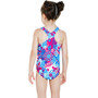 speedo Fantasy Flowers Essential All Over Badeanzug Kinder electric pink/neon blue/white