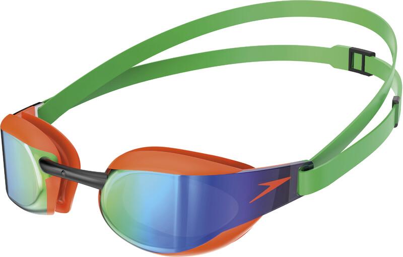 fcd607086621c Fastskin Elite Mirror Goggles fluo orange/lawn green 2019 Schwimmbrillen