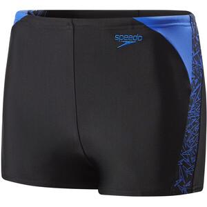 speedo Boom Splice Wassershorts Jungen black/amparo blue black/amparo blue