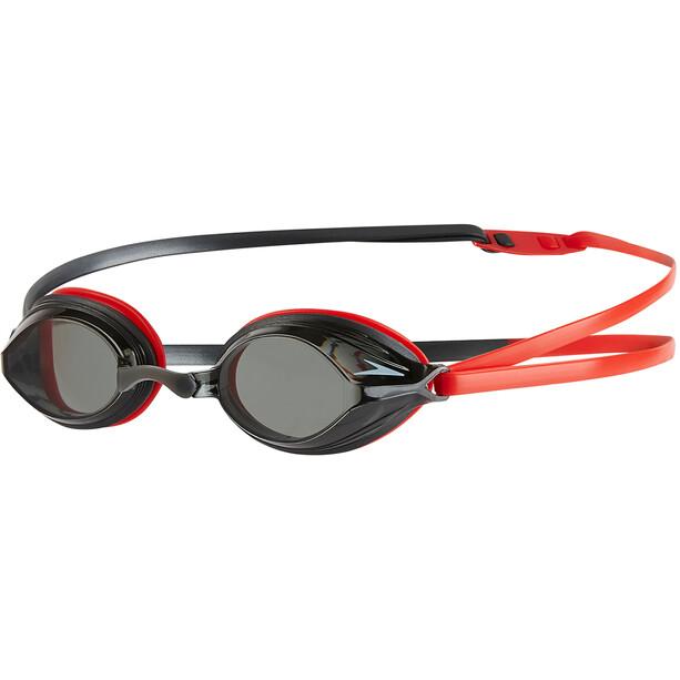 speedo Vengeance Goggles lava red/usa charcoal/smoke