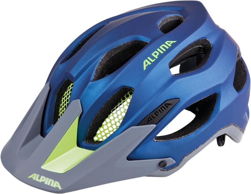 Alpina Carapax Helmet darkblue-neon 52-57cm 2018 Fahrradhelme