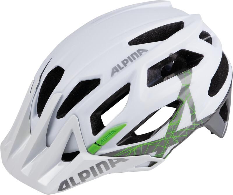 Alpina Garbanzo Helmet white-titanium-green 52-57cm 2018 Fahrradhelme