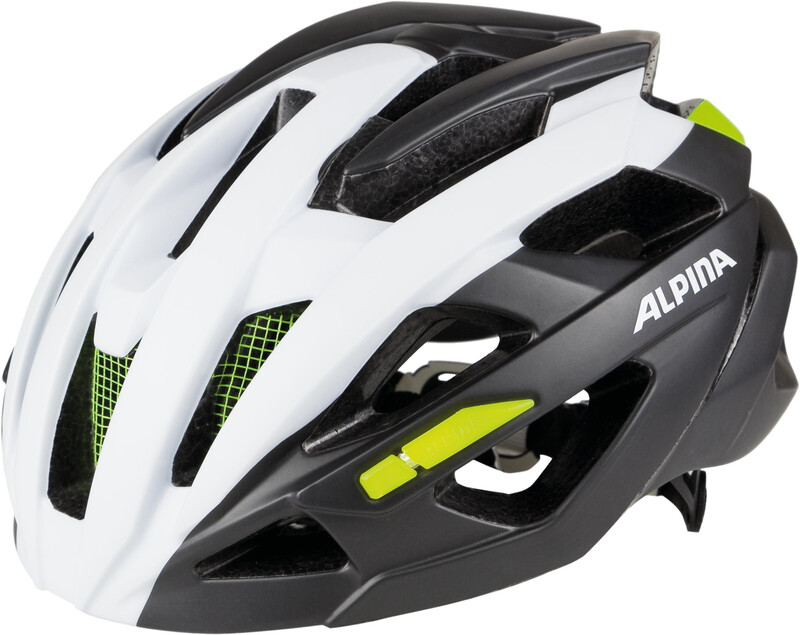 Alpina Valparola RC Helmet white-titanium-neon 51-56cm 2018 Fahrradhelme