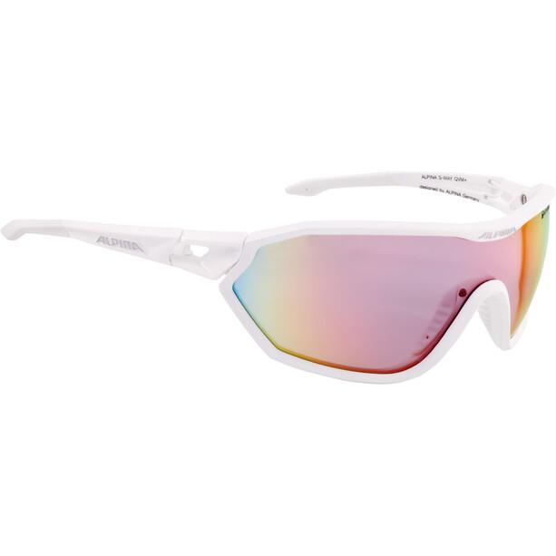 Alpina S-Way QVM+ Brille white matt