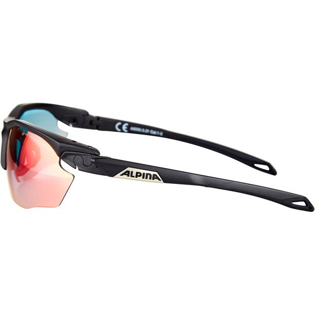 Alpina Twist Five HR QVM+ Brille black matt