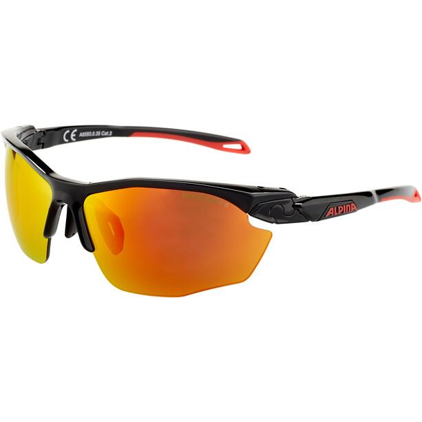 Alpina Twist Five HR CM+ Brille black matt-red