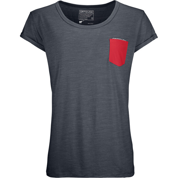 Ortovox 120 Cool Tec T-shirt Dam black steel blend
