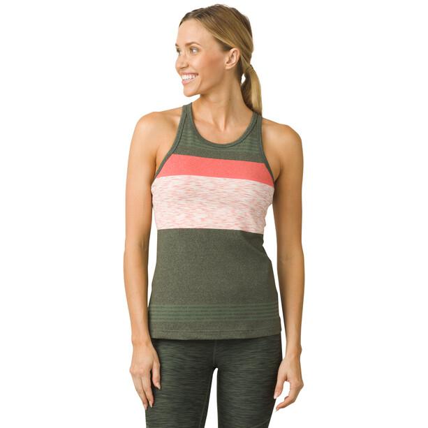 Prana Alois T-shirt zippé Femme, gris gris